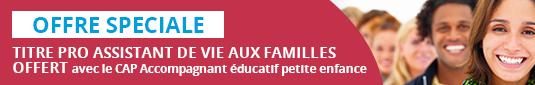 Titre pro ADVF offert avec le CAP Accompagnant éducatif petite enfance