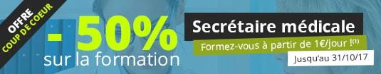 -50% sur la formation Secrétaire médicale