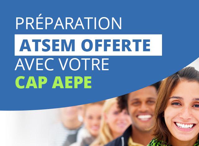 Découvrez notre offre du mois et profitez d'une préparation ATSEM offerte avec votre préparation au CAP AEPE.